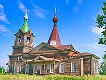 Wooden church in the Udmurt Republic