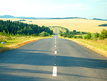 Paved road in Udmurtia