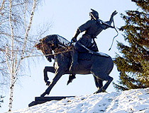 Monument to Salavat Yulaev in Ufa