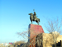 Monument to Geser, Buryat epic hero, in Ulan-Ude