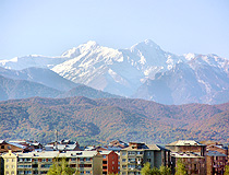 Caucasus Mountains in Vladikavkaz