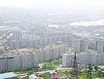 Apartment buildings in Vladivostok
