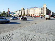 In the center of Volgograd