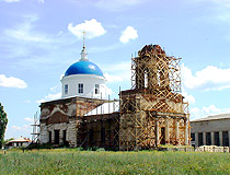 Restoration of the church in Volgograd oblast