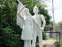 Monument from the Soviet past in Volgogradskaya oblast