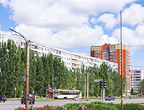On the street in Volzhsky