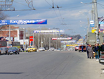 On a busy street in Voronezh