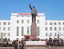Lenin monument in Yakutsk