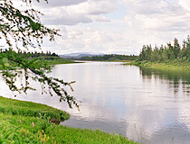 Small river in the Yamalo-Nenets region