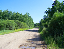 Country road in the Zabaykalsky region