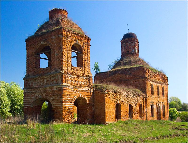 Tula oblast, Russia abandoned church view