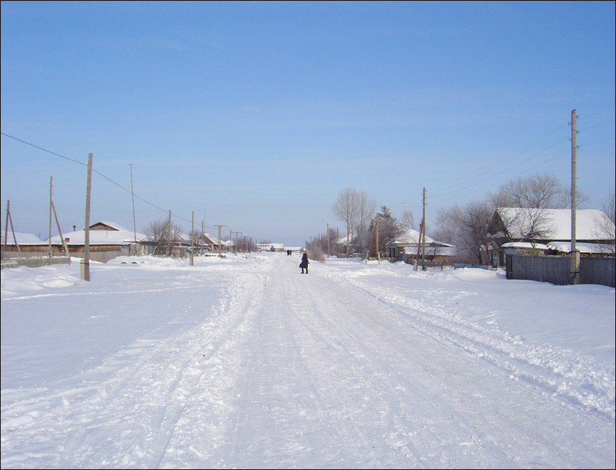 Tyumen oblast, Russia winter view