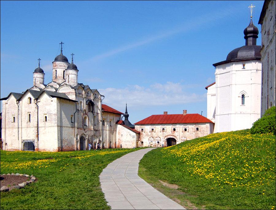 Vologda oblast, Russia monastery view