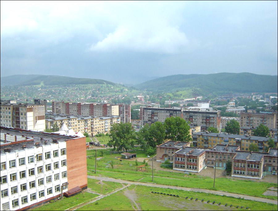 Zlatoust city, Russia general view